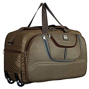 METRO BAGS 55 cms Luggage Travel Duffel Bags Men Womens Strolley Trolley Nylon Cabin Bags  Brown