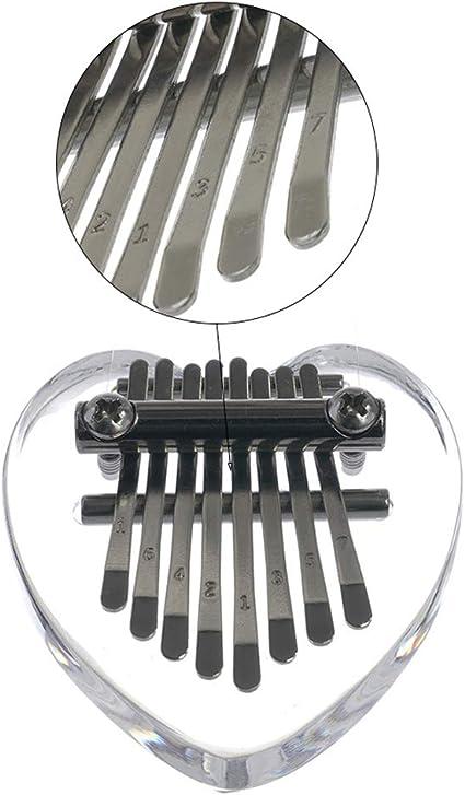 yotijar Cristal 8 Touches Mini Kalimba Acrylique Mbira Pouce Instrument /à Clavier De