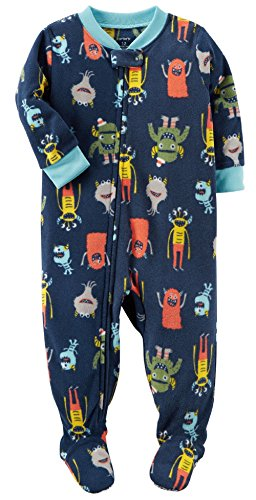 Carter's Boys' 12M-24M Monster Fleece Pajamas Blue 12 Months