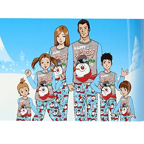Frosty the Snowman Christmas Holiday Family Sleepwear Pajamas (3T, Unisex Toddler Frosty)