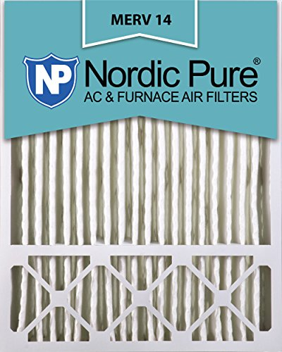Nordic Pure 20x25x5 (4-3/8 Actual Depth) Lennox X6675 Replacement MERV 14 Pleated AC Furnace Air Filter, Box of 2 (Lennox Unit Heaters)