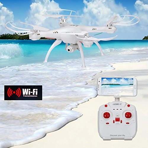 Livoty LiDiRC L15W 4CH HD Camera WiFi FPV 2.4G 6-axis Gyro RC Quadcopter Altitude Hold