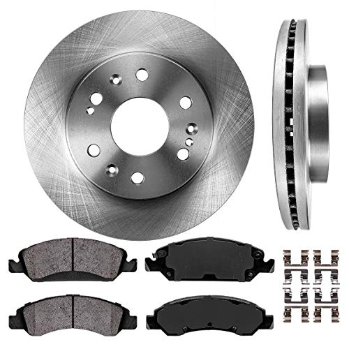 02-06 Ford Expedition XLT Baeur Drilled Slotted Brake Rotors Ceramic Pads Front