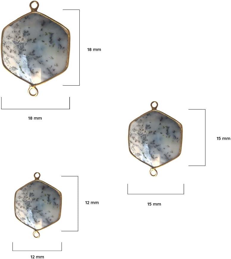Natural Gemstones Hexagonal White Opal Gemstone Pendant Beads Necklace Earrings