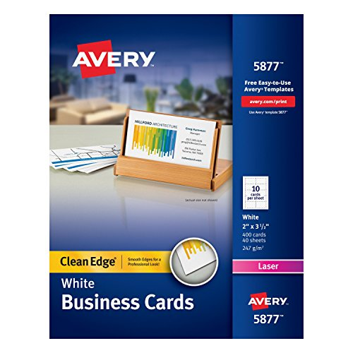 avery business cards clean edge - 8