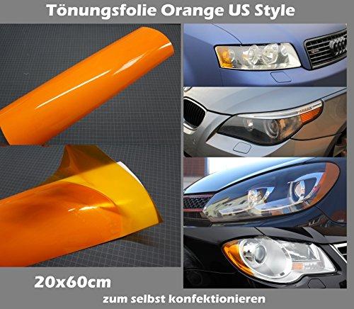 Finest Folia Scheinwerferfolie T/önungsfolie US Style Folie Blinker Nebelscheinwerfer Tint Film Orange