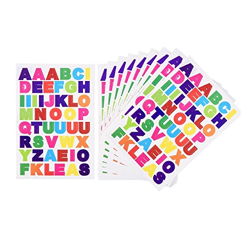 eBoot Colorful Stickers Alphabet Cardstock