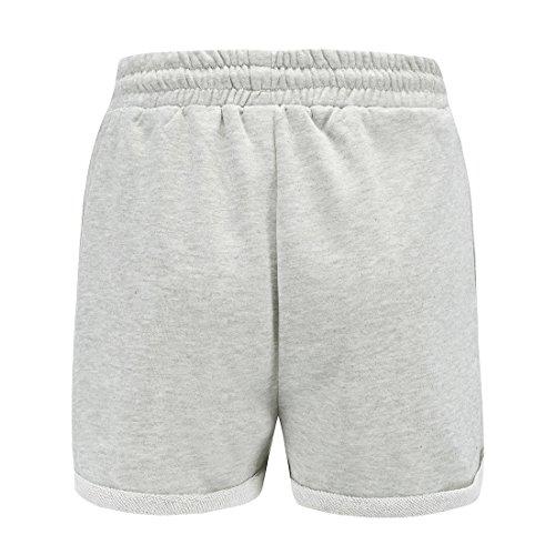 Unita Nuovo Estivo Shorts Pantaloncini Pantaloni Pants Con Coulisse Grigio Donna Corto Da Hot Spiaggia Casual Tinta O0p0wRq6x