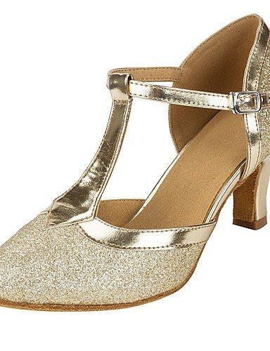 La mode moderne Sandales Chaussures de danse pour femmes personnalisables Paillettes scintillantes sandales talon Salsa sur mesure Performance or,Gold,US9.5-10 / EU41 / UK7.5-8 / CN42