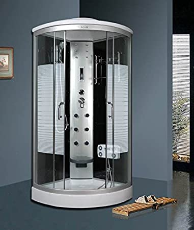 Luxus duschkabine  Luxus4Home Arielle LED Duschkabine 100 x 100 cm Komplettdusche mit ...