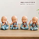 Creative Home Furnishing Monk Decoration Office Decoration Living Room Tv Cabinet Wine Resin Handicraft Decoration 4 Without Stumps