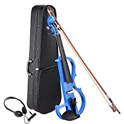 AW 4/4 Electric Violin Full Size Wood Si...