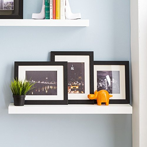 Isabella Floating Shelf, Decorative Wood Wall Shelf (36