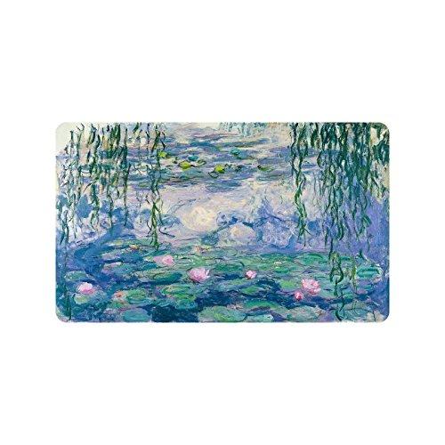Claude Monet's Painting Doormat Entrance Mat Floor Mat Rug Indoor/Outdoor/Front Door/Bathroom Mats Rubber Non Slip Size 30 x 18 inches