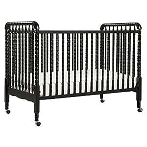 DaVnci Jenny Lind 3-in-1 Convertable Crib, Ebony
