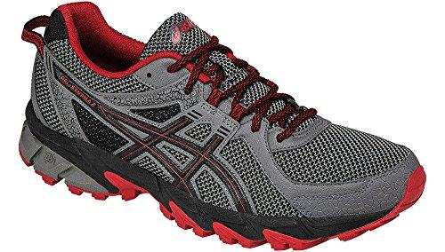 (ASICS Men's Gel-Sonoma 2 Trail Runner, Carbon/True Red/Black, 6 M US)