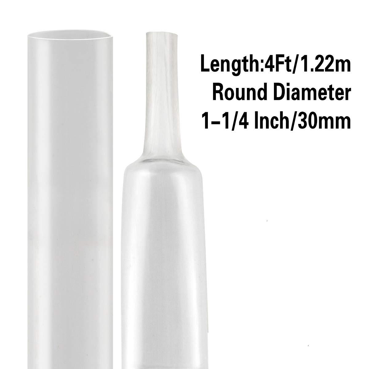 """2 FEET 3//32/"""" Clear Heat Shrink Tube 3:1 Dual Wall Adhesive Glue Marine//to"""