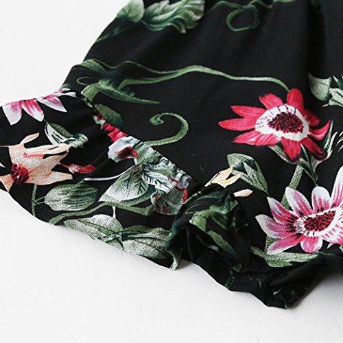 Donna Vintage Chiffon Estivi Top Shirt Pantaloni Crop Top T 1 Homebaby® Corti Donna Magliette Manica Donna Tuta Eleganti Corta Donna Jumpsuit Nero zqZxwAH