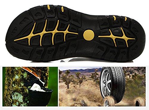 Sports Athletic Asifn Hommes Randonne D't Noir Antidrapant En Cuir De Pour Air Sandales Respirant Marche Chaussures Casual Plein Plage TAwABdrnq