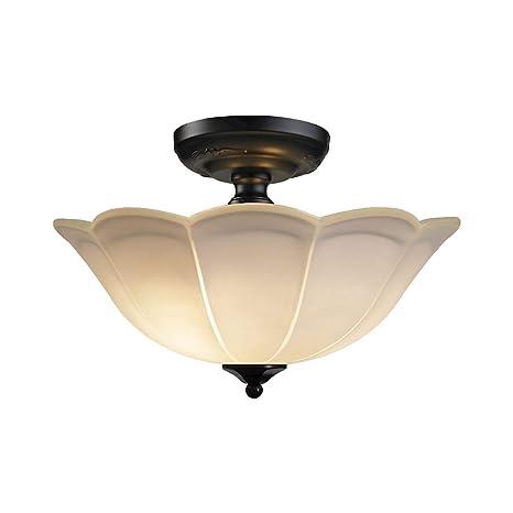 Amazon.com: Iluminación Elk 66380/3 3 luz Semi-Flush plafón ...