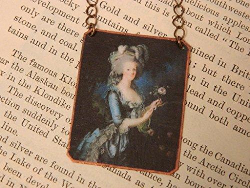 Queen necklace Queen jewelry Marie Antoinette mixed media jewelry