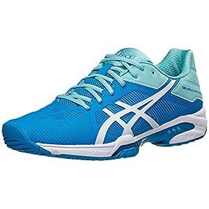 ASICS Women's Gel-Solution Speed 3 Tennis Shoe, Aqua Splash/White/Diva Blue, 10 M US