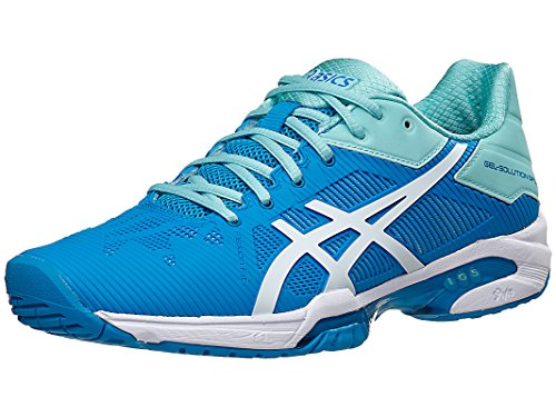 ASICS Women's Gel-Solution Speed 3 Tennis Shoe, Aqua Splash/White/Diva Blue, 9 M US (Tennis Shoe Women)