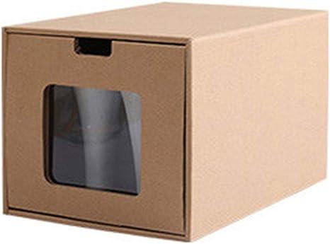 Loriver 1pc Cajón Caja de Zapatos Organizador de Papel Kraft Botas de Almacenamiento Zapatillas Dus Nuevo: Amazon.es: Deportes y aire libre