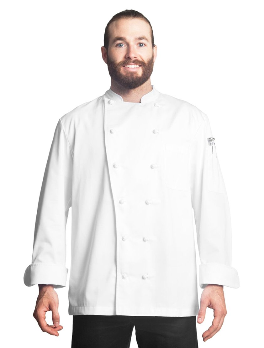 Bragard Alfred Long Sleeve Chef Jacket Ideal for Kitchen Wear Poly Cotton - White | Sizes 34 | by Bragard