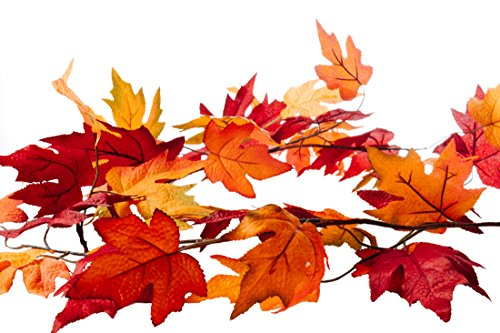 - CraftMore Fall Maple Leaf Garland 6 Feet