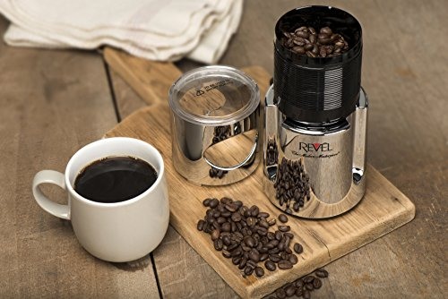 Revel CCM104CH Chrome Wet and Dry Coffee Spice Grinder, 220 Volts (Not for USA - European Cord) by Revel (Image #2)