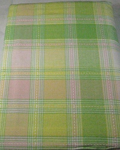 Well Dress Home Springtime Plaid Tablecloths - Easter 100% Cotton Assorted Sizes (60 x 84)