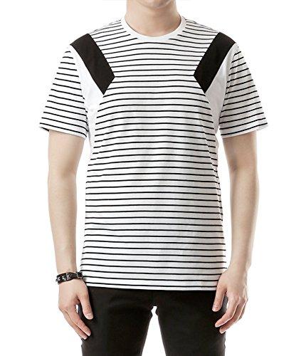 wiberlux-neil-barrett-mens-paneled-stripe-print-t-shirt-xl-white