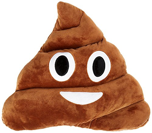 Qs 11x12 Poop Poo Emoji Emoticon Cushion Pillow Brown Stuffed (Poo Face)