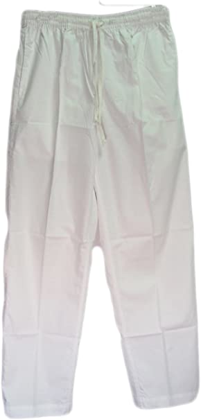 Amazon.com: Hombres con cordón/Cintura elástica Yogi Blanco ...