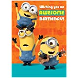 Awesome Birthday Tickle Minions Sound Card