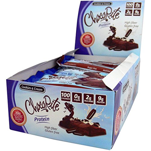 ChocoRite – High Protein Diet Bars | Cookies & Cream | Low Calorie, Sugar Free, (16/Box)