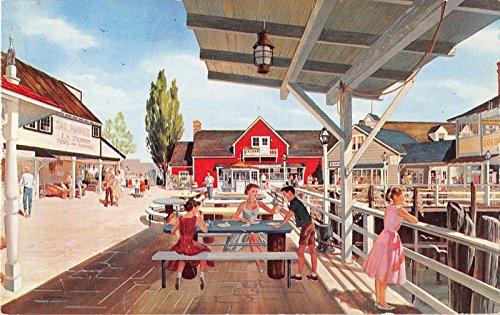 Santa Monica California Fisherman's Cove Vintage Postcard J21109