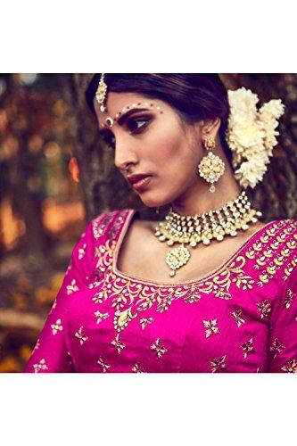 IWS Womens Bhagalpuri Silk Fabric Pink Pretty Circular Lehenga Style 81118