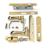 Andersen Storm Door Handle Assembly in Brass Finish Traditional Style 2004 to Present