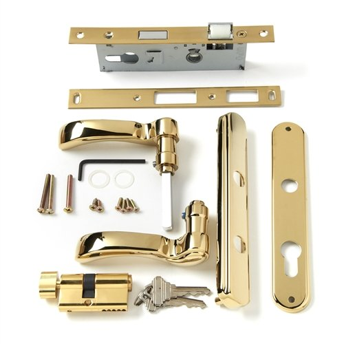 Traditional Brass Finish - Andersen Storm Door Handle Assembly in Brass Finish Traditional Style 2004 to Present