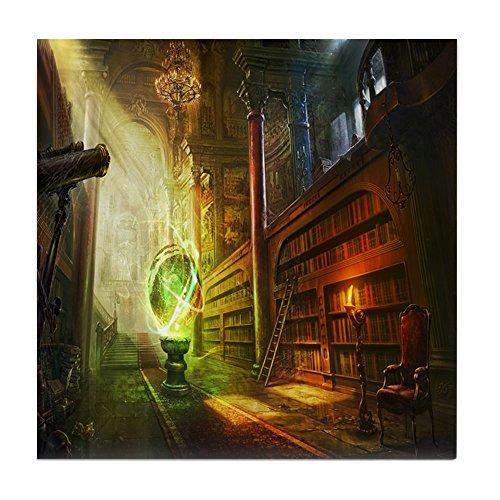 CafePress - Mystical Library - Tile Coaster, Drink Coaster, Small Trivet