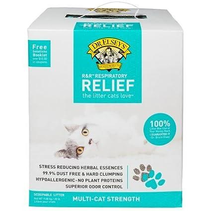 Dr  Elsey's Precious Cat Respiratory Relief Cat Litter, (20 lb, Clay)