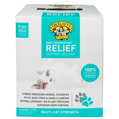 便宜的价格 . Elsey' Precious Cat Respiratory Relief Clay Litter, (2Packs),