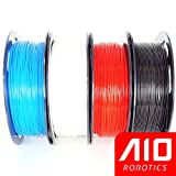 AIO Robotics Universal Premium Filament Bundle, PLA, True Popular Pantone Colors (Multi-Pack of 4), Blue, White, Red, Black