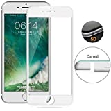 Tingtong 5D Coloured 9H Hardness Edge-Edge Screen Covered Anti-Scratch Tempered Glass for iphone6 and 6S(White)