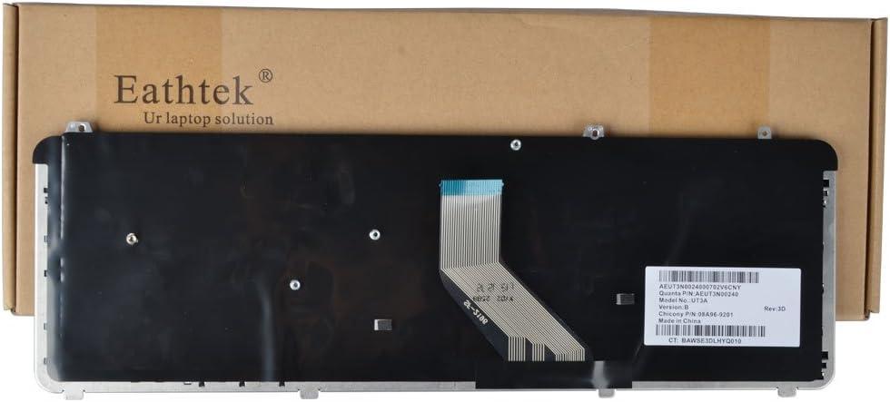 Eathtek Replacement Keyboard for HP Pavilion DV6-1054CL DV6-1122US DV6-1230US DV6-1234NR DV6-1238NR DV6-1240US DV6-1243CL DV6-1244SB DV6-1245DX DV6-1247CL DV6-1250US DV6-1253CL DV6-1259DX DV6-1263CL DV6-1268NR DV6-1280US DV6-1334US DV6-1350US DV6-1351NR DV