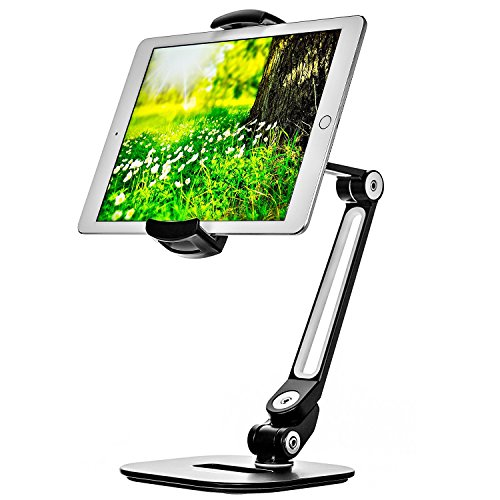 Ipad Stand - Adjustable Tablet Holder for 6 to 13 inch Tablets and Phones for The Table, Desk, Kitchen, Office - by Bontend