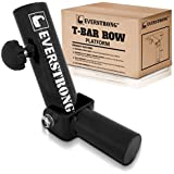 EverStrong T bar Row with Securing Knob by Widest 360 Degree T-row Bar | Heavy Duty Steel T-bar Row Machine | T-bar Row Handle Home Workout Equipment | Body Fitness Equipment T-row Bar Attachment