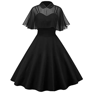 fbaec421fe1 RoseGal Women s Vintage Dress Pin Up Swing Retro Skirt with Cape (2XL
